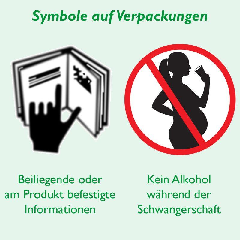 Symbole Schwanger Beipackzettel