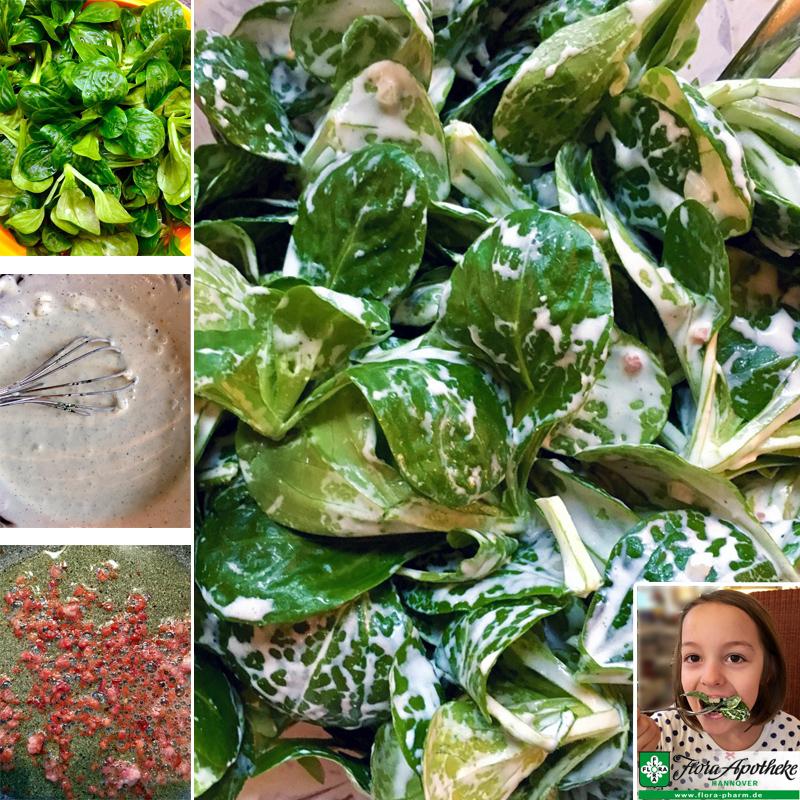 Feldsalat mit Schmanddressing