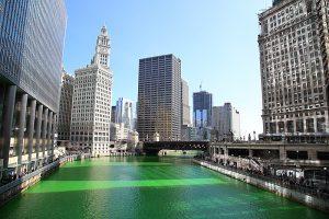 grüner Chicagoriver - St. Patrick's Day