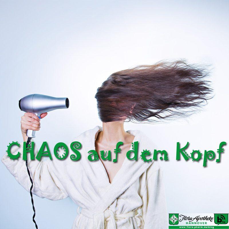 Chaos auf dem Kopf Frau
