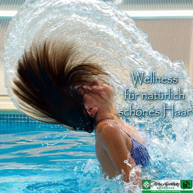 Wellness für natürlich schönes Haar Frau