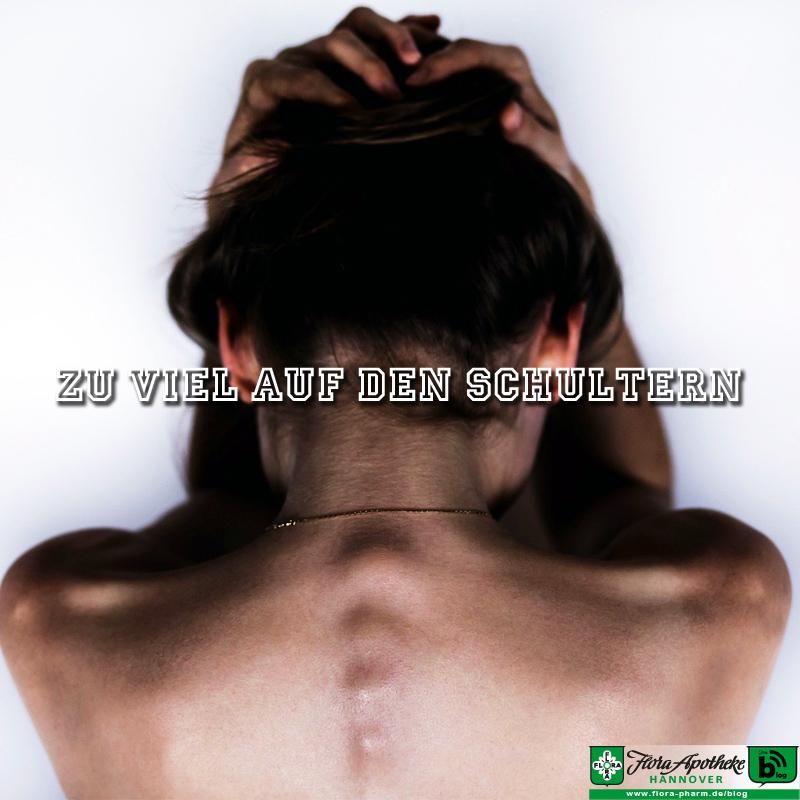 Last auf den Schultern - Verspannung