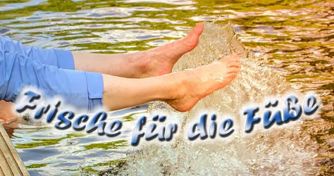 Fuß Erfrischung