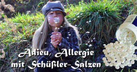 Adieu, Allergie - Schüßler-Salze